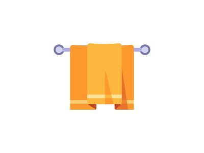 Towel bath towel daily icon illustration vector design flat