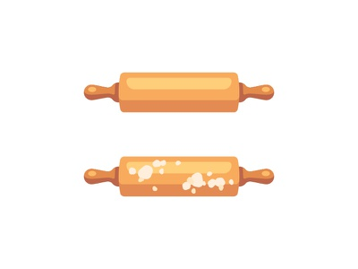 Rolling pin baking cooking rolling pin daily icon illustration vector design flat