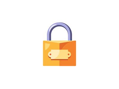 Lock lock daily icon illustration vector design flat