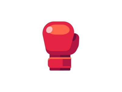 Boxing glove boxing glove daily icon illustration vector design flat