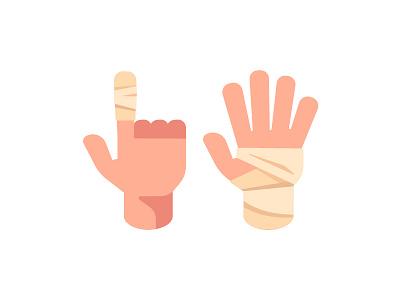 Bandage hand bandage daily icon illustration vector design flat