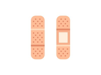 Band-aid band aid daily icon illustration vector design flat