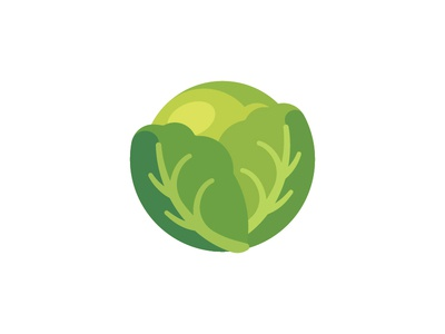 Cabbage cabbage daily icon illustration vector design flat