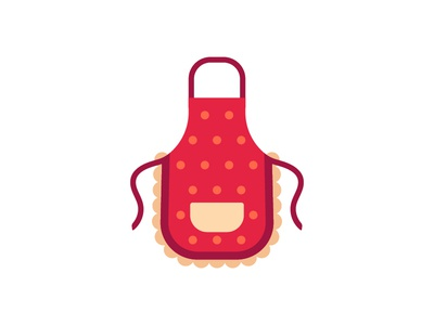 Apron apron kitchen daily icon illustration vector design flat