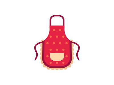 Apron apron kitchen daily icon illustration vector design flat