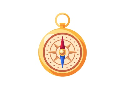 Compass compass daily icon illustration vector design flat