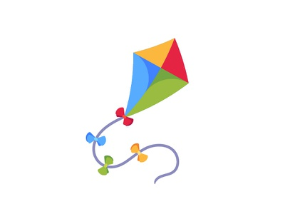 Kite kite daily icon illustration vector design flat