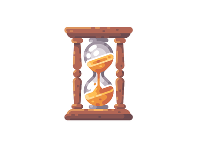 Hourglass hourglass old time sand icon illustration vector design flat
