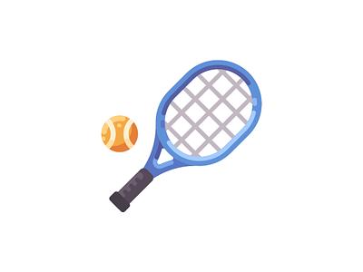 Tennis racket ball tennis game sport icon vector illustration design flat