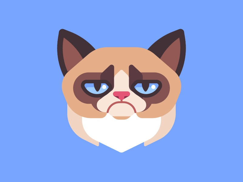 RIP Grumpy Cat vector illustration grumpy cat