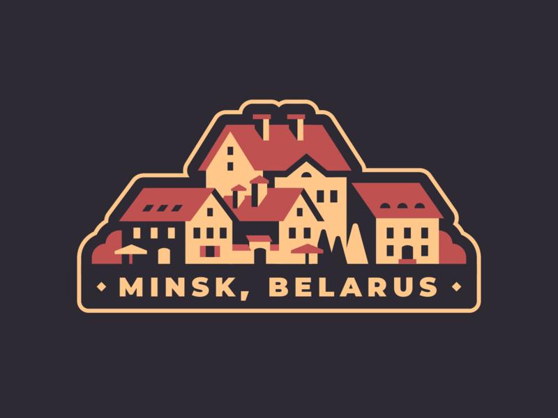 Minsk - Hometown sticker vintage vector sticker retro minsk illustration flat design emblem dribbbleweeklywarmup belarus