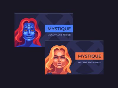 Mystique business card