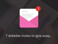 7 Dribbble invites to give away!