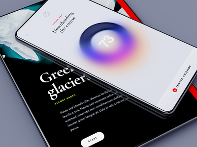 EOS – case study service platform clean ui typography poster nubmer progress bar course article lecture black mobile ios loading education