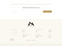 Newsletter Sign Up & Footer