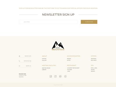 Newsletter Sign Up & Footer footer ux ui logo hotel premium design website