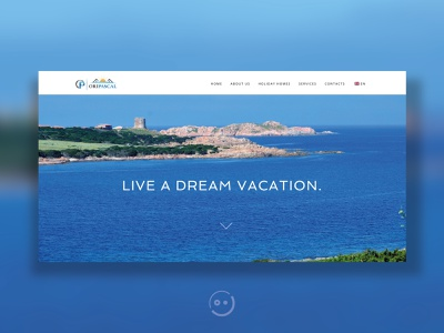 Booking Website sardinia italy behance flat minimal summer design travel booking responsive website userinterface uiux webdesign