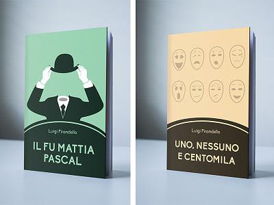 Luigi Pirandello Novels Collection // Books Covers editorial illustration design italian literature collection covers cover books book pirandello luigi