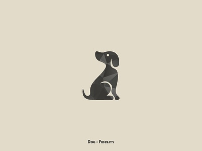 Dog - Fidelity illustration animals animal collection design minimal
