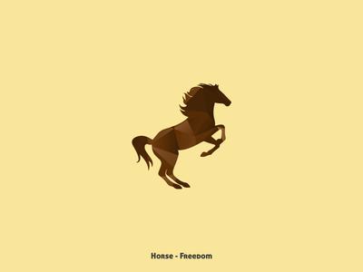 Horse - Freedom nature illustration animals animal collection design minimal
