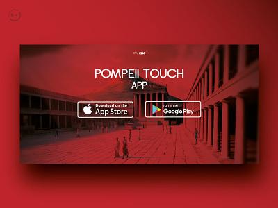 Pompeii App User Interface userinterface appdesign graphicdesign interface landingpage website design ux ui app pompeii