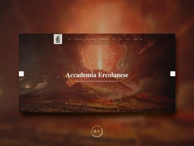 Accademia Ercolanese interface uidesign culture website webdesign museum minimal history art ux ui web