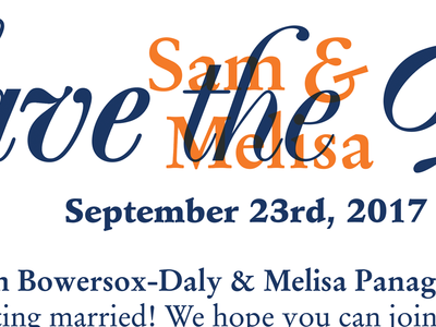 Sam & Melisa Save the Date