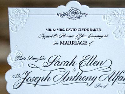 Sarah & Joey Wedding Invite