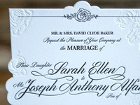 Sarah & Joey Wedding Invite