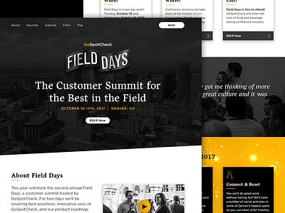 GoSpotCheck Field Days 2017 Website landing page field days art direction flag web website