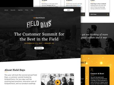 GoSpotCheck Field Days 2017 Website