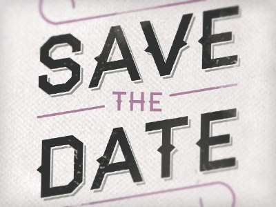Save The Date save the date typography type grey