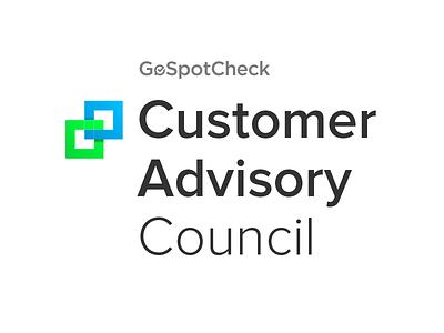 GoSpotCheck Customer Advisory Council Logo typography type brand identity logotype logo