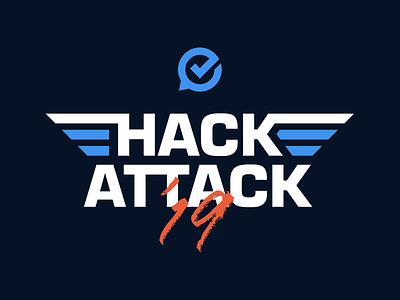 GoSpotCheck Hackattack 2019 Logo top gun logo hackathon