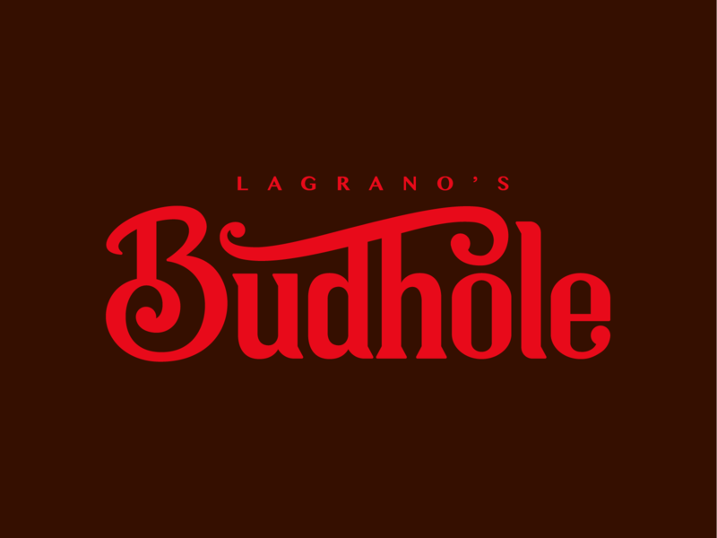 The Budhole: A Place for Friends branding typography idendity bar logotype type brand logo