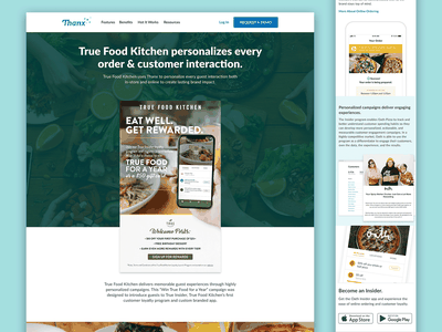 Thanx Customer Landing Pages thanx responsive design web design web landing page interaction ui