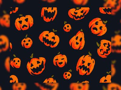 Pumpkins Pattern spooky hand drawn illustration pumpkins pumpkin pattern halloween