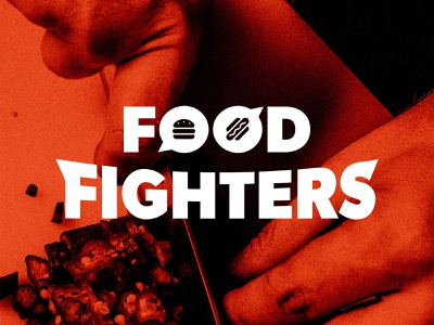 Food Fighters, The Podcast metal rock and roll brand design logotype branding identity brand