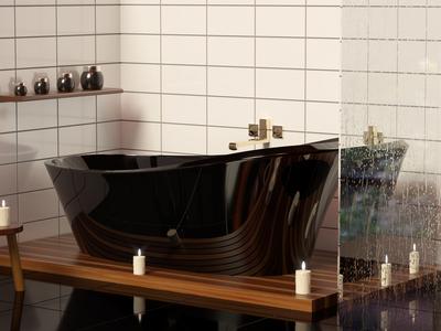 modern bathroom black