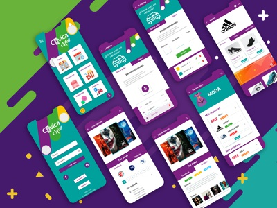 Rework CívicaMall app design ux ui