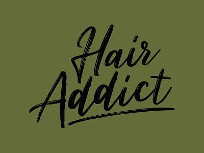 Hair Addict T-Shirt typography design t-shirt design t-shirt