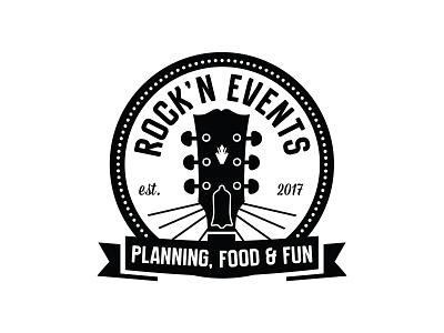 Rock'n Events Logo branding logo logo design