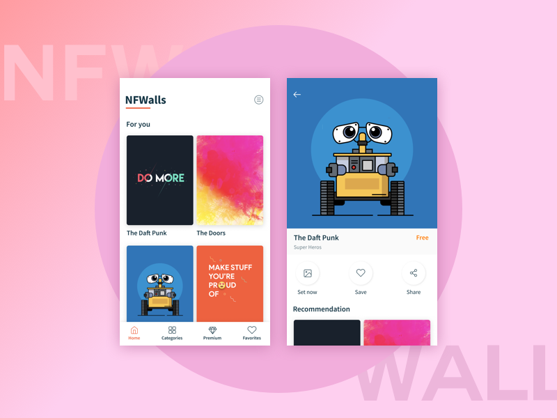 Nfwalls Wallpapers App By Rathish G On Dribbble