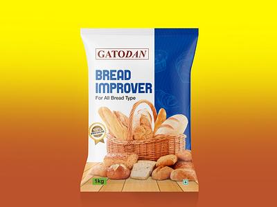 Bread Improver Packet Design print design branding design pouch design bread improver graphic design chips packet design illustration biscuit packaging packaging design