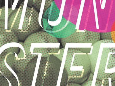 TMT - Ball Pit Poster halftone print poster half tone monster grunge