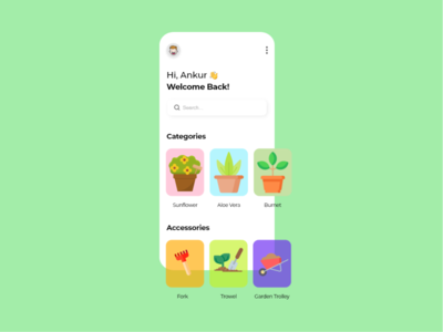 Plantr - an online plant & accessories buying shop app design flower clean ui plants plant adobe xd uiux design app uidesigns mobile ui uidesign design ui