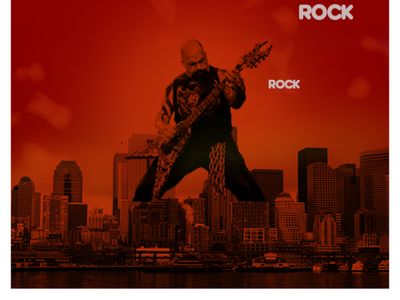 Kerry King brand web design typography abstract poster music