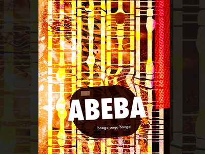 Ab3bA contemporary abstract brand collage print kek fashion web design poster typography