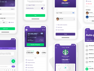All Screens - timo Mobile Banking
