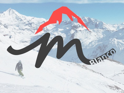 Daily Logo 08 Ski mountain logo - Mount Blanco